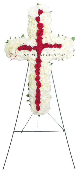 Cruz floral: Abrazo de Cristo
