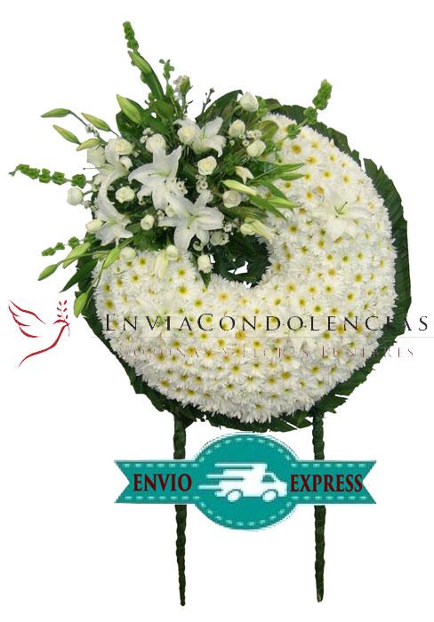 Corona Floral Grande: Luz Blanca