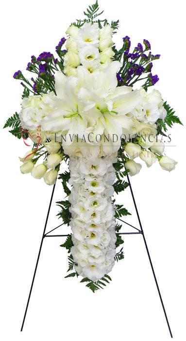 Cruz floral funebre Premium: Dios Contigo