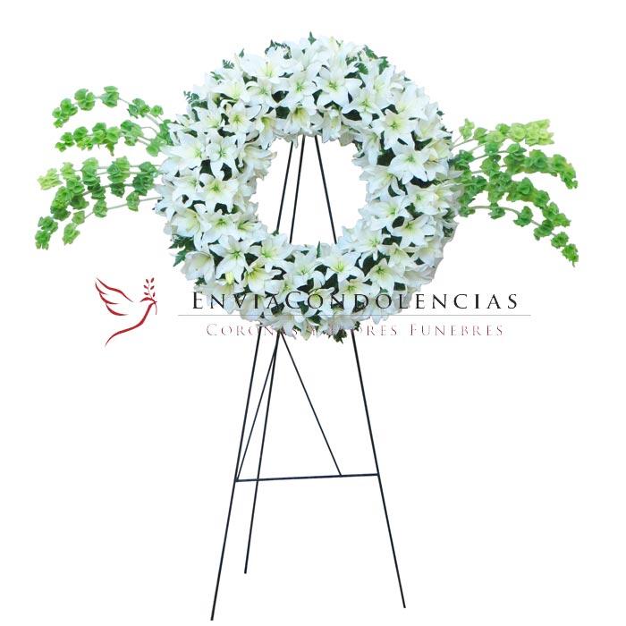 Corona Fúnebre: Ángel que Abraza