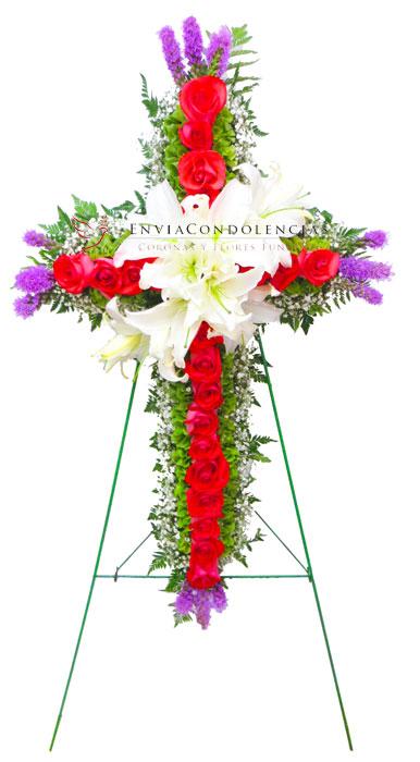 Cruz floral: Camino a Cristo