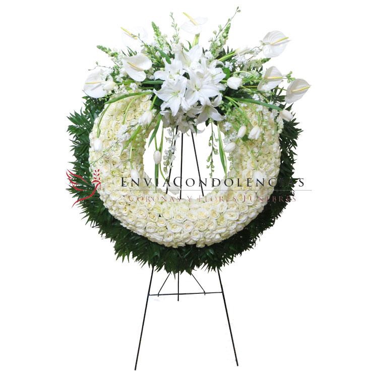 Corona Fúnebre Premium Grande: Arcángel Celestial